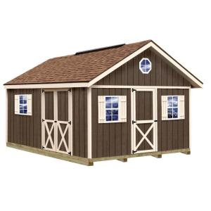 Best Barns Fairview 12 ft. x 16 ft. Wood Storage Shed Kit with Floor Including 4... by Best Barns