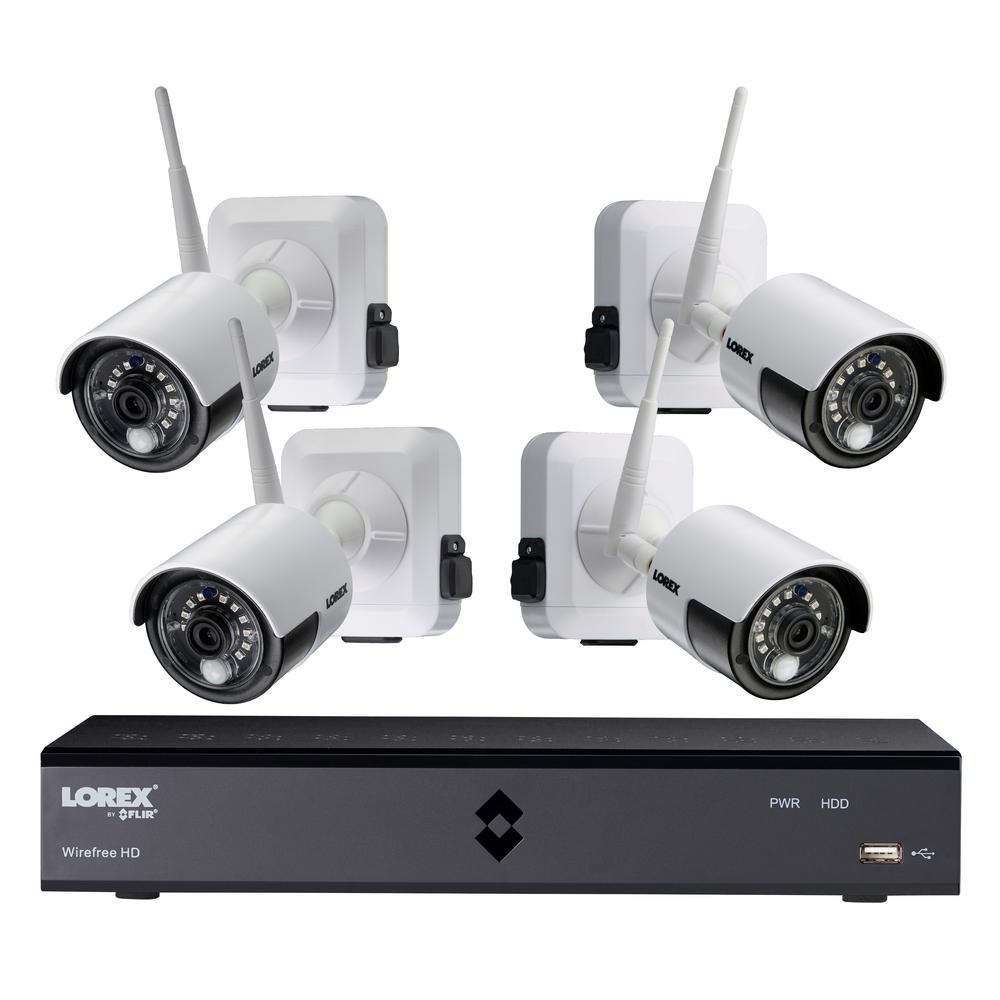 Lorex HD p 8 Channel DVR with 8 Cameras View your world like never before with the powerful and affordable Lorex 8-channel HD DVR. See in crystal clear p day or night with the 8 premium high definition bullet cameras.