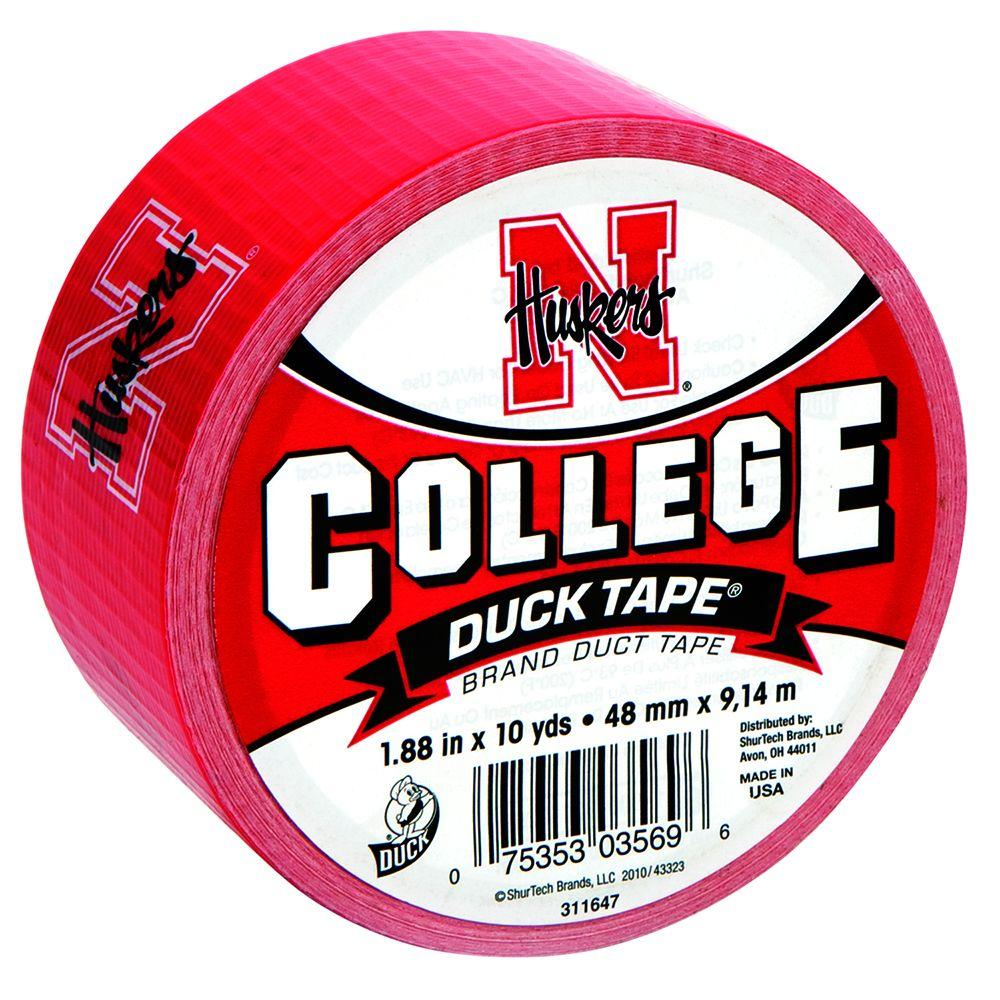 Duck College 1-7/8 in. x 30 ft. University of Nebraska Duct Tape