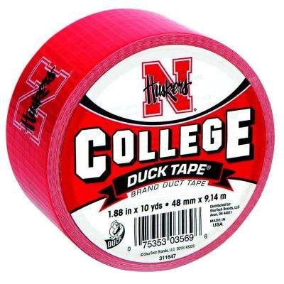 College 1-7/8 in. x 30 ft. University of Nebraska Duct Tape