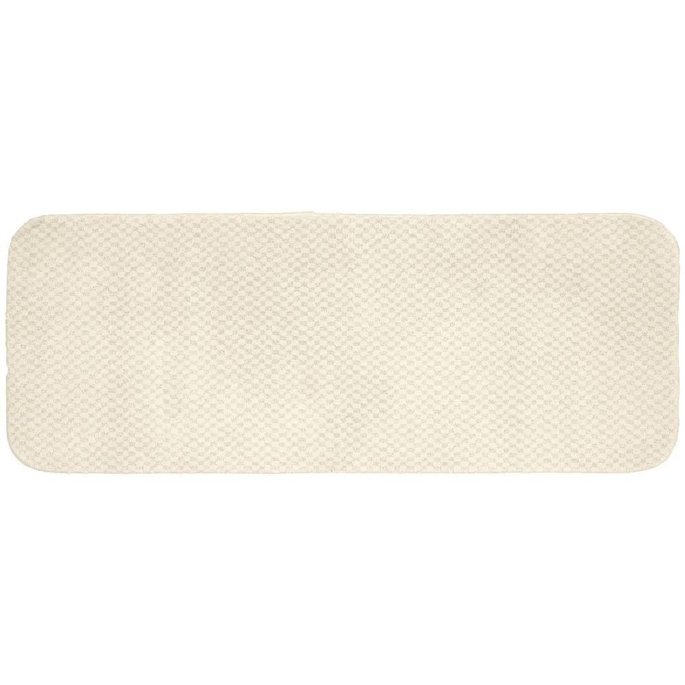 Garland Rug Cabernet Ivory 22 in. x 60 in. Washable Bathroom Accent Rug