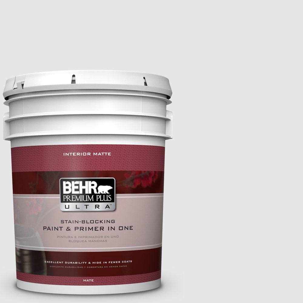 BEHR Premium Plus Ultra 5 gal. #PR-W9 Nimbus Cloud Matte Interior Paint