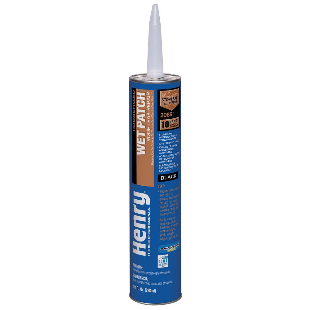 Henry 10.1 OZ Rubber Wet Patch Roof Cement
