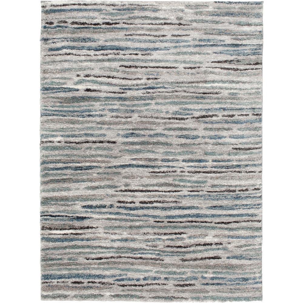 Shoreline Grey/Multi 8 ft. x 10 ft. Striped Area Rug