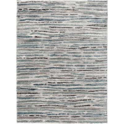 Shoreline Grey/Multi 8 ft. x 10 ft. Striped Area Rug