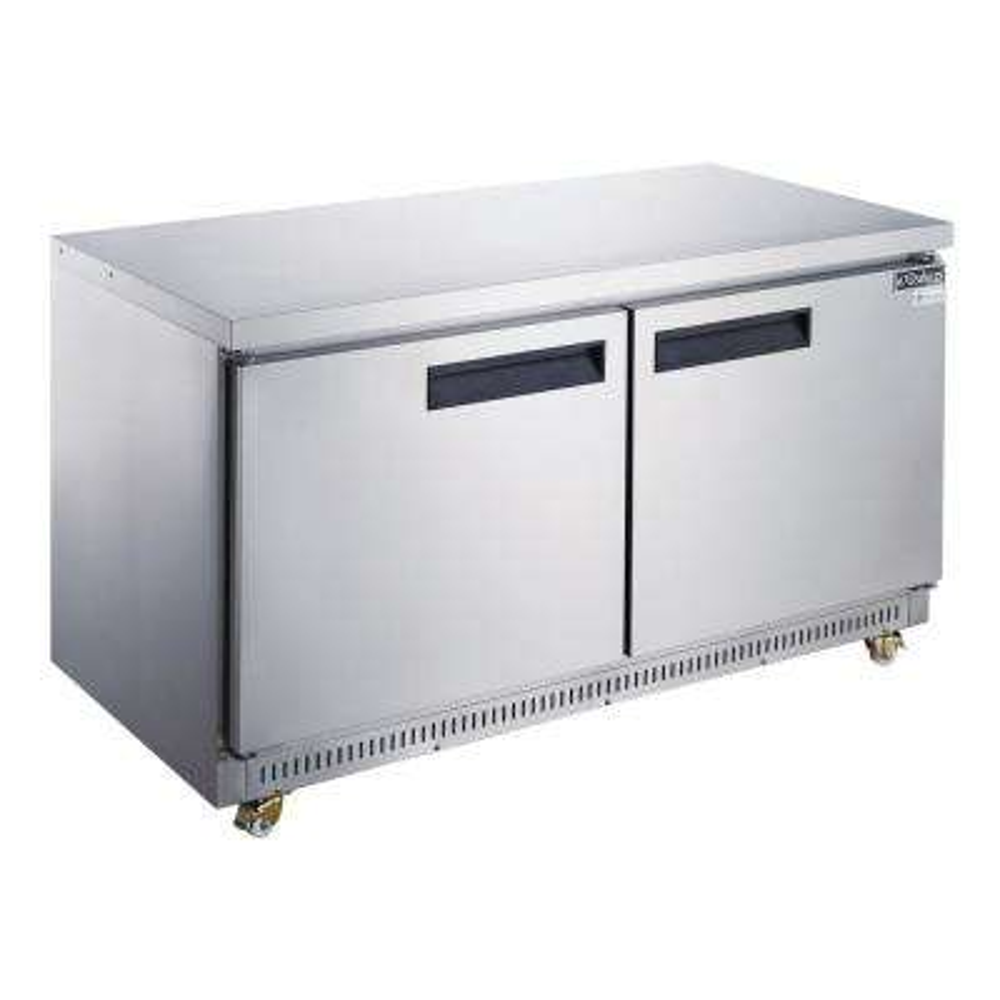 48 in. W 12.2 cu. ft. 2-Door Undercounter Refrigerator in Stainless Steel