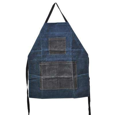 Waxed Canvas Two-toned Utility Apron Slate & Olive