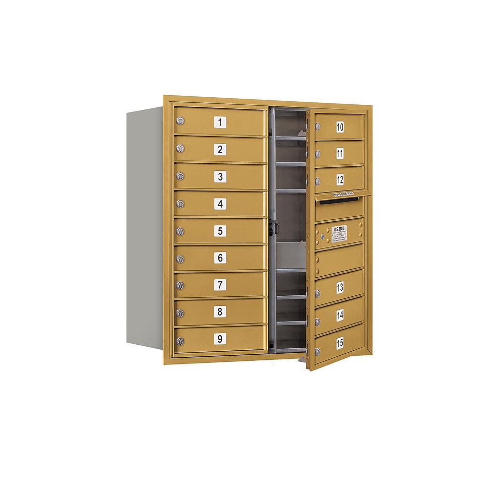 3700 Horizontal Series 15-Compartment Recessed Mount Mailbox