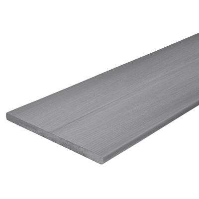 Horizon 3/4 in. x 11-1/4 in. x 12 ft. Castle Gray Capped Composite Fascia Decking Board