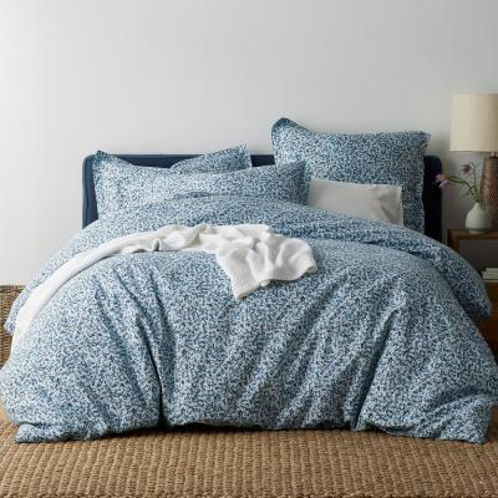 Splatter 300-Thread Count Organic Cotton Percale Full Duvet Cover