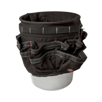 12 in. 42-Compartment Tool Bucket Organizer in Black