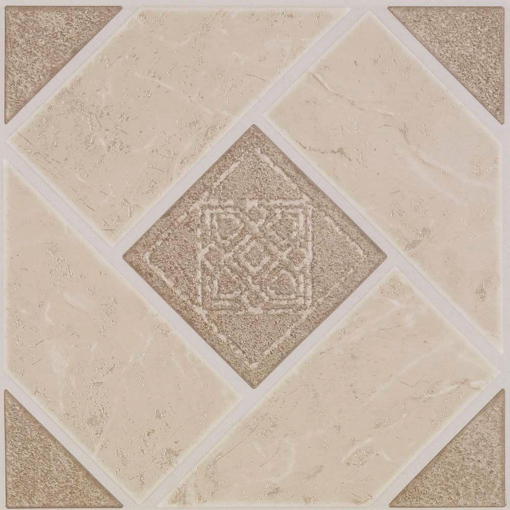 Armstrong Stylistik II 12 in. x 12 in. Jamesport Camel Vinyl Tile (45 sq. ft. / case)