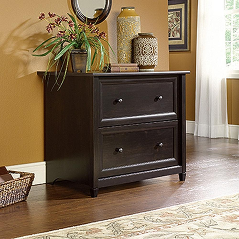 SAUDER Edge Water Estate Black File Cabinet-409044 - The Home Depot