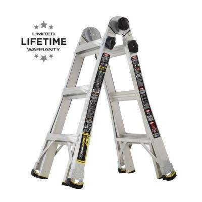 14 ft. Reach MPX Aluminum Multi-Position Ladder with 375 lb. Load Capacity Type IAA Duty Rating