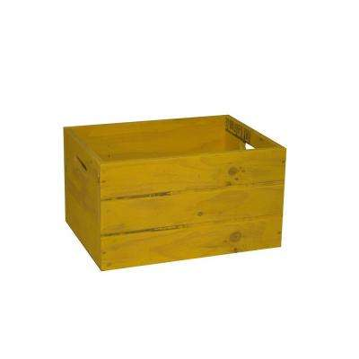 Crate Wood Planter in Yellow