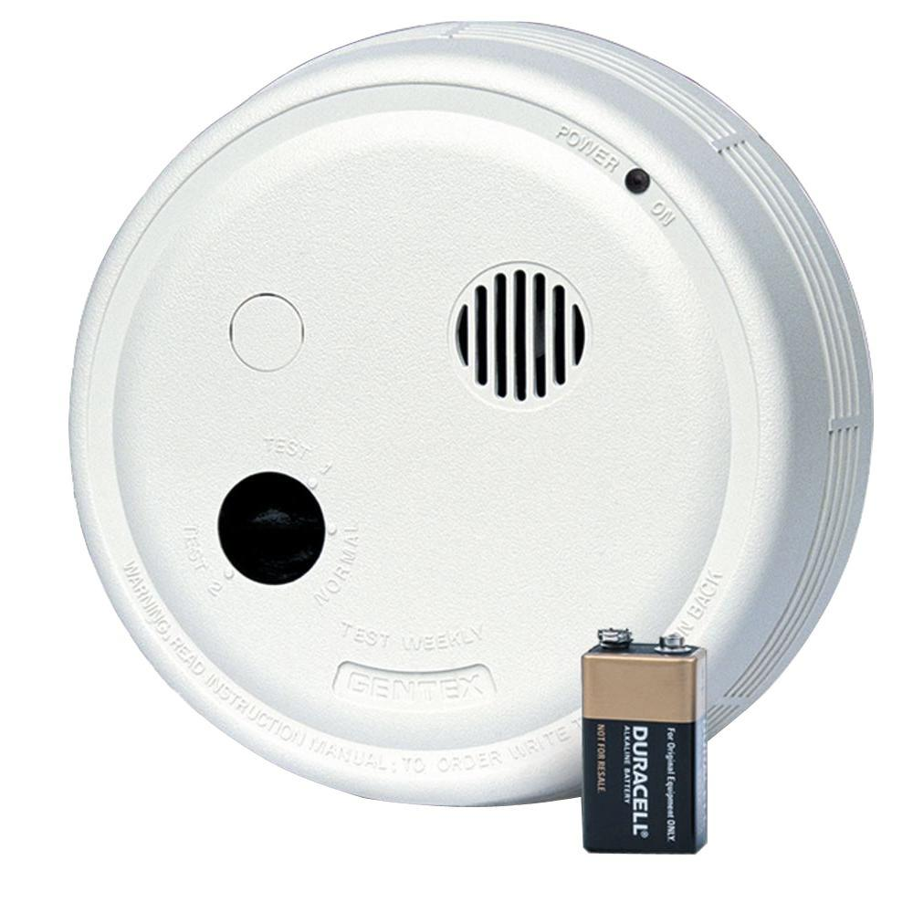 Gentex Hardwired Interconnected Photoelectric Smoke Alarm with Test Switch and Temporal 3 Sounder