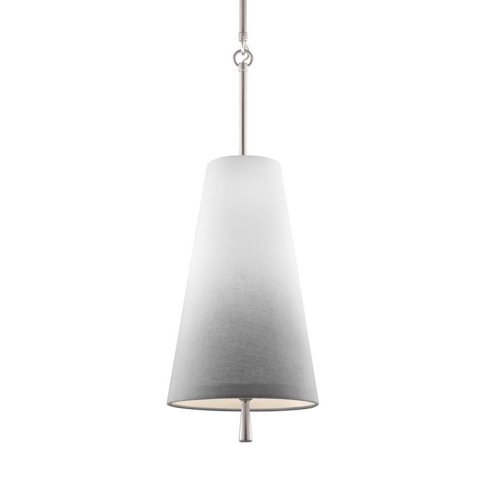 Tori 1-Light Satin Nickel Mini Pendant