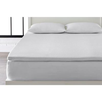 2 in. Gel Infused Memory Foam Twin Mattress Topper with Diamond Quilted Cover