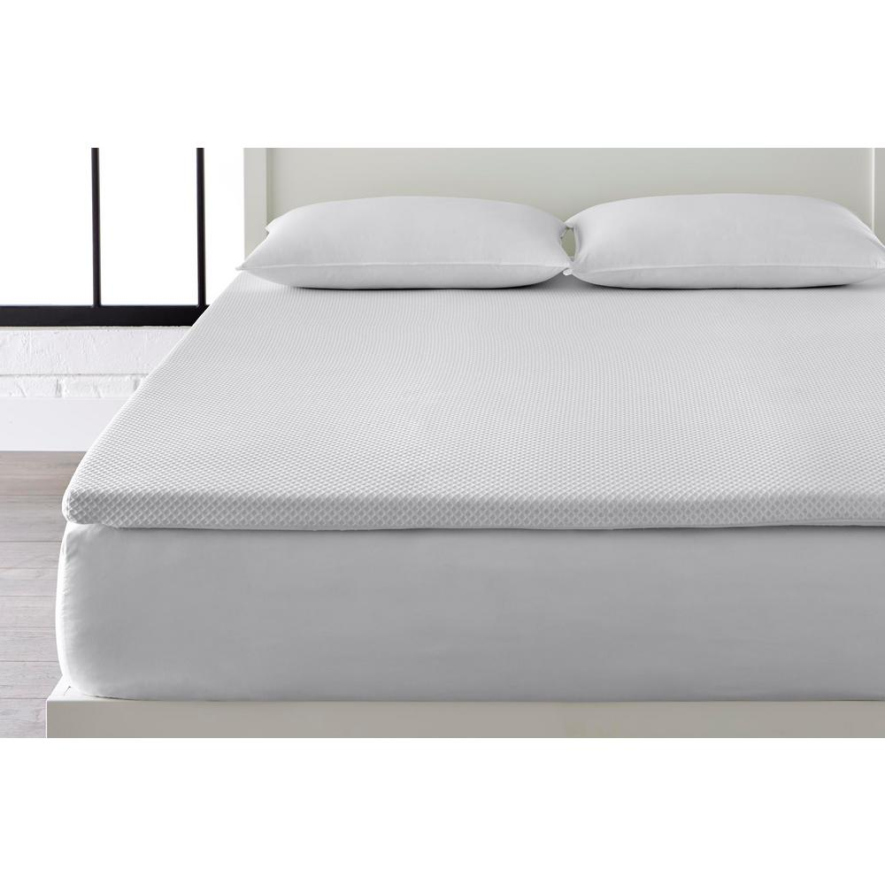 Stylewell 2 in. Gel Infused Memory Foam Queen Mattress Topper