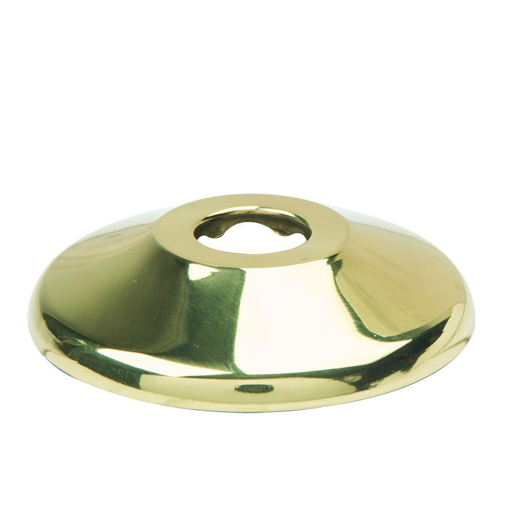 BrassCraft 1/2 in. Nominal (5/8 in. O.D.) Shallow Escutcheon for Copper Pipe in Polished Brass