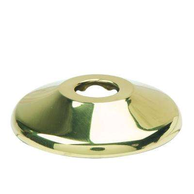 1/2 in. Nominal (5/8 in. O.D.) Shallow Escutcheon for Copper Pipe in Polished Brass