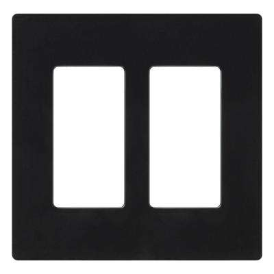 Claro 2 Gang Decorator Wallplate, Black