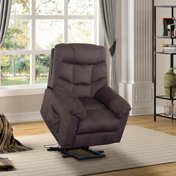 Dark Brown Power and Lift Recliner with Remote Control