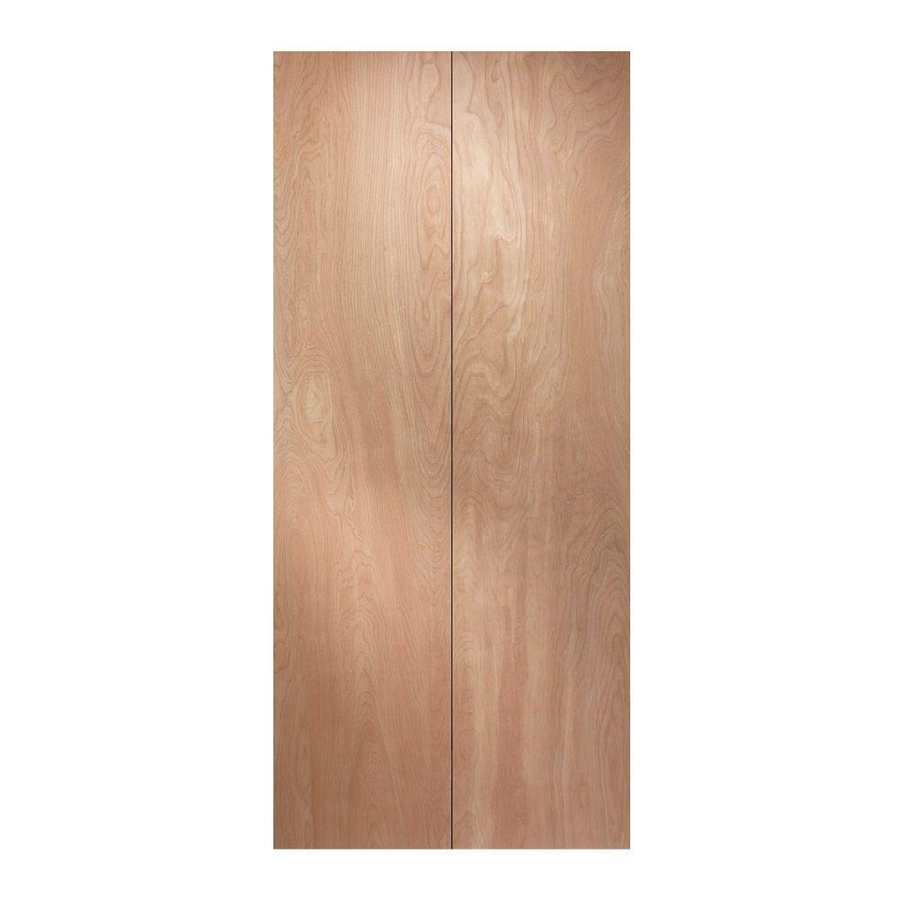 JELD-WEN 30 in. x 80 in. Birch Unfinished Flush Wood Closet Bi-fold Door