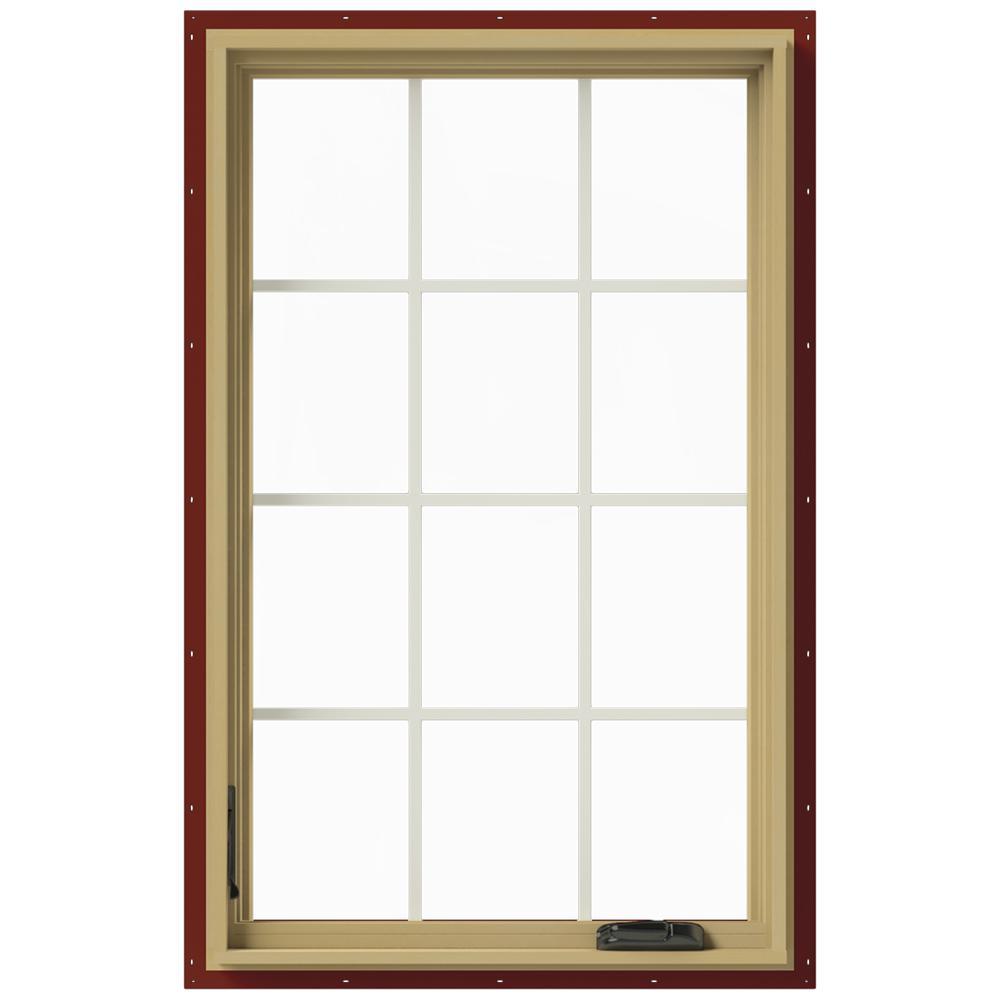 30 in. x 48 in. W-2500 Left Hand Casement Aluminum Clad Wood Window