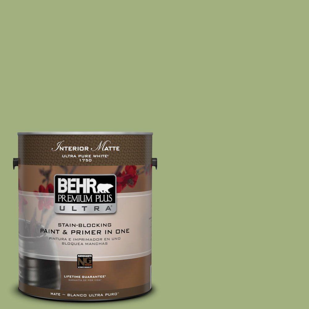 BEHR Premium Plus Ultra 1 gal. #M360-5 Fresh Guacamole Matte Interior Paint