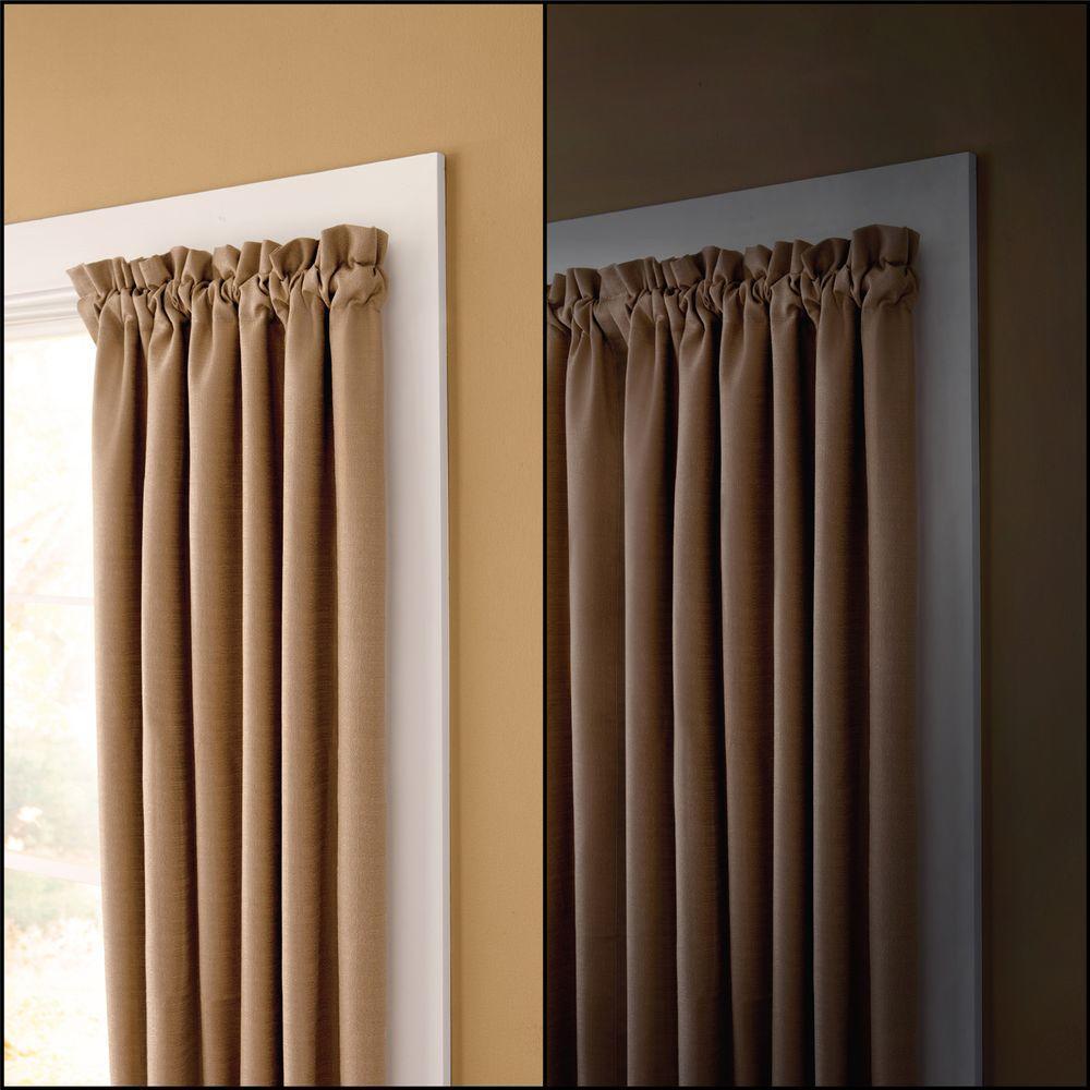 No Tools Inside Mount 28 - 48 in. Adjustable 5/8 in. Room Darkening Curtain Rod in Nickel