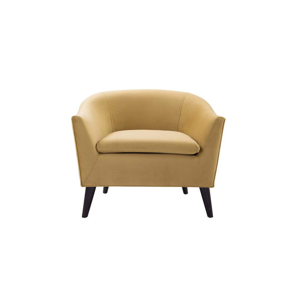 Jennifer Taylor Lia Gold Barrel Chair