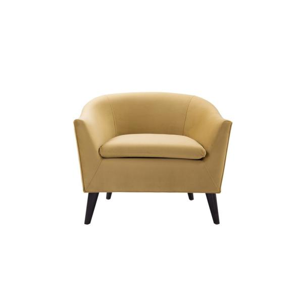 Lia Gold Barrel Chair