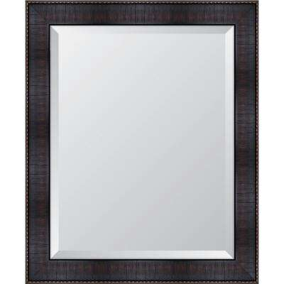 "28 in. x 34 in. Framed 3"" Espresso Resin Mirror"