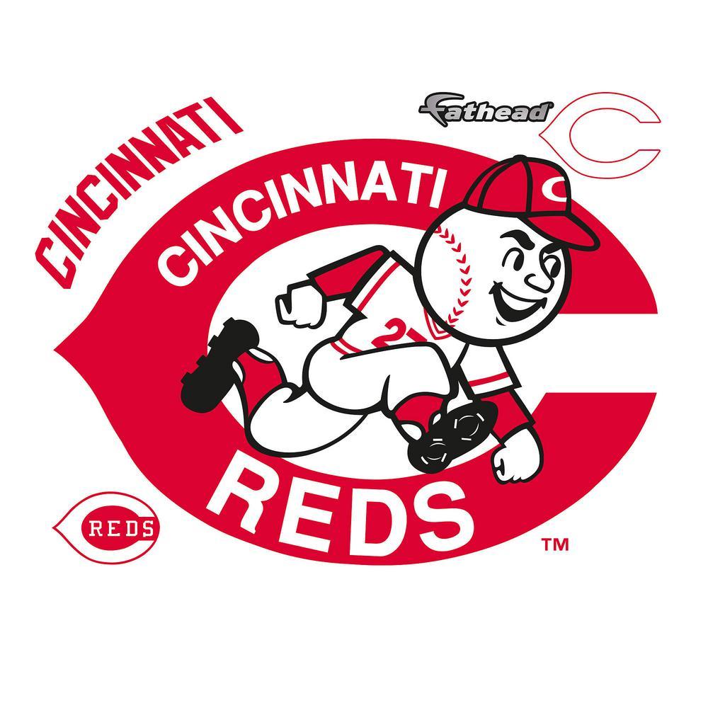 36 in. H x 51 in. W Cincinnati Reds Classic Logo Wall Mural