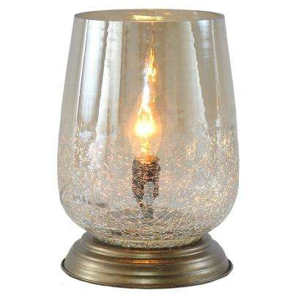 7.9 in. Metallic Smoke Bordeaux Handblown Glass Table Lamp