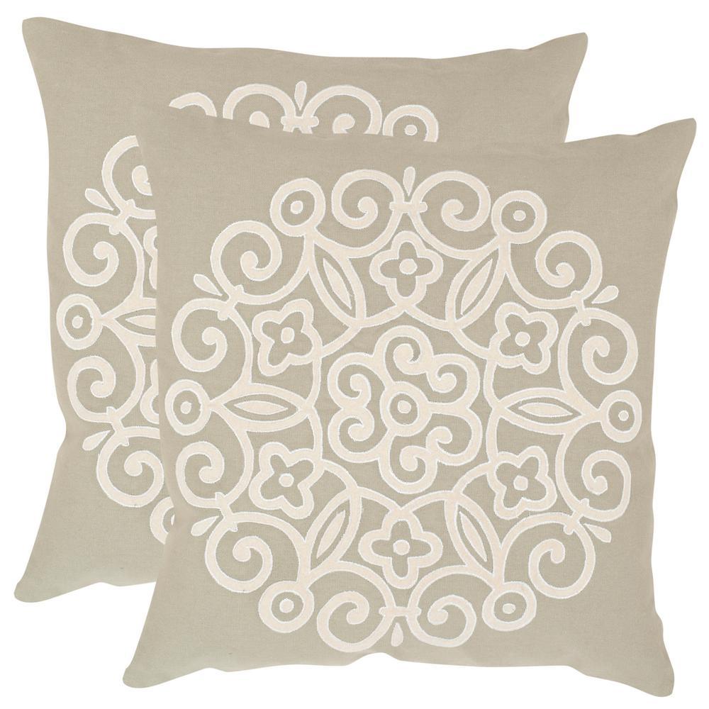 Safavieh Joanna Embroidered Pillow (2-Pack) DEC608A-2222-SET2