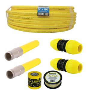 Underground 3/4in IPS Repair Kit(1)3/4in x 100ft Pipe,(2)3/4in Couplers,(2)3/4in Transition Fittings, Gas Line Detection