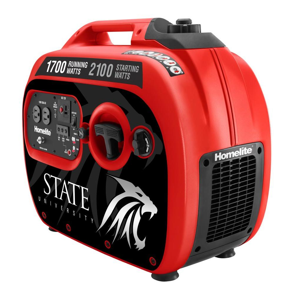 Homelite Skinit 1700-Watt Gasoline Powered Portable Generator with Quiet Tailgate Inverter
