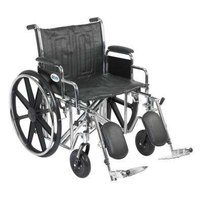 Sentra EC Heavy Duty Wheelchair with Desk Arms, Elevating Leg Rests and 22 in. Seat