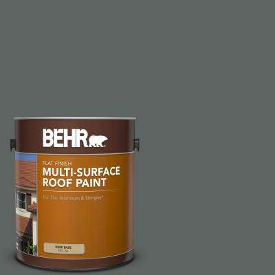 1 gal. #BXC-41 Charcoal Flat Multi-Surface Exterior Roof Paint