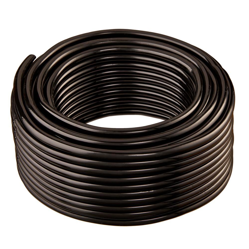 1 in. I.D. x 1 1/4 in. O.D. x 50 ft. Black Flexible Non-Toxic, BPA Free Vinyl Tubing
