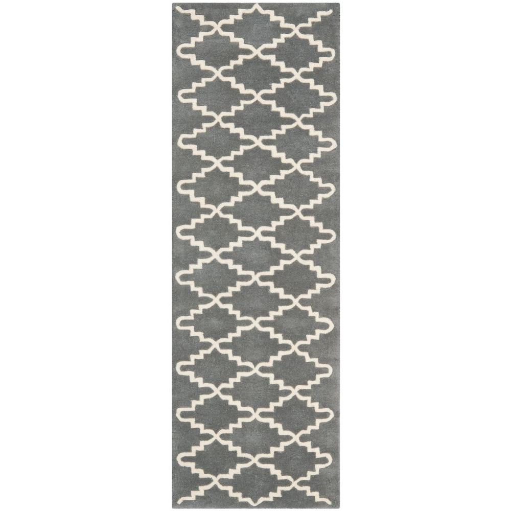 Chatham Dark Grey/Ivory 2 ft. 3 in. x 7 ft. Runner
