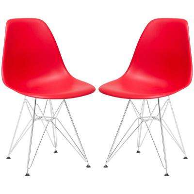 Padget Red Side Chair (Set of 2)