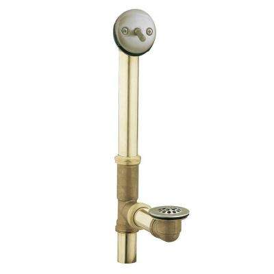 Brass Trip-Lever Drain Assembly in Brushed Nickel