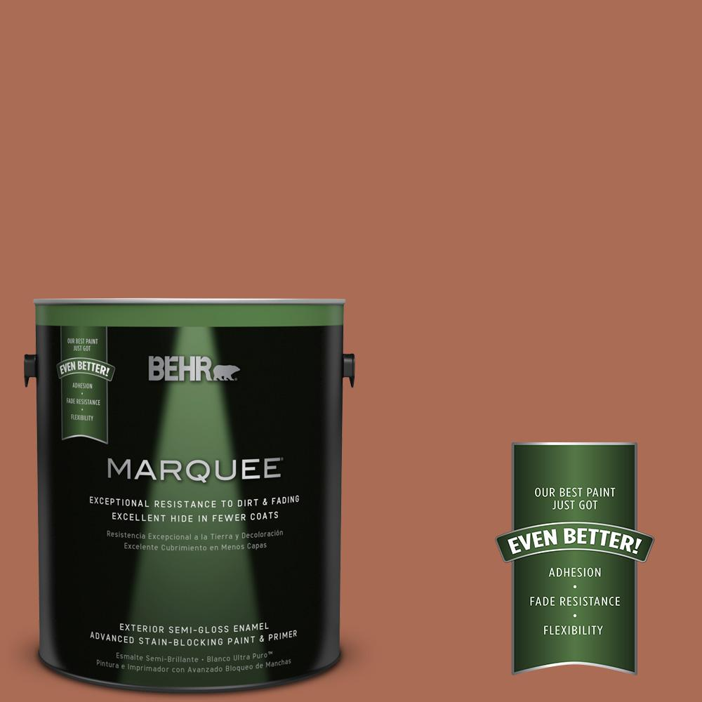 BEHR MARQUEE 1-gal. #BIC-45 Airbrushed Copper Semi-Gloss Enamel Exterior Paint