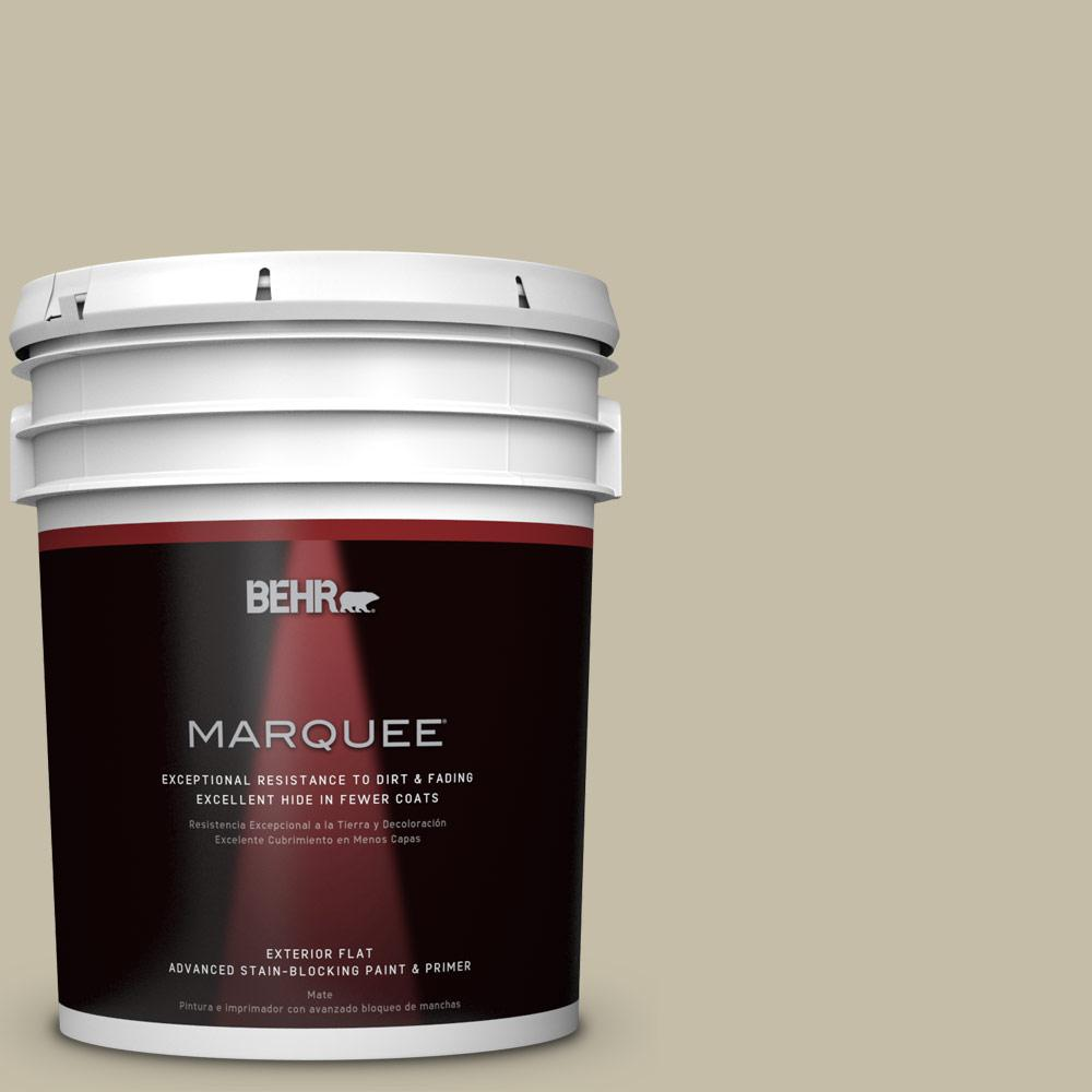 BEHR MARQUEE 5-gal. #PPU8-18 Celery Powder Flat Exterior Paint