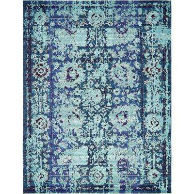 Traditional Palazzo Blue 10 ft. x 13 ft. Area Rug
