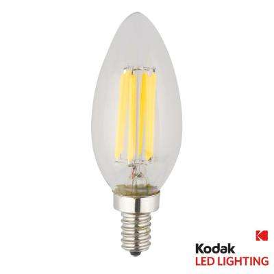 55W Equivalent Warm White E12 Candle Torpedo Dimmable LED Light Bulb