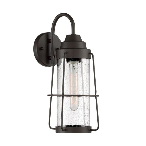 Marin 1-Light 7 in. Rustique Outdoor Wall Lantern Sconce